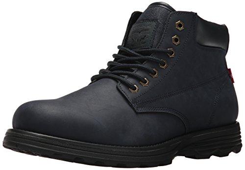 Levis Men's Gordon Oily Fashion Boot, Navy/Black, 9.5 M US