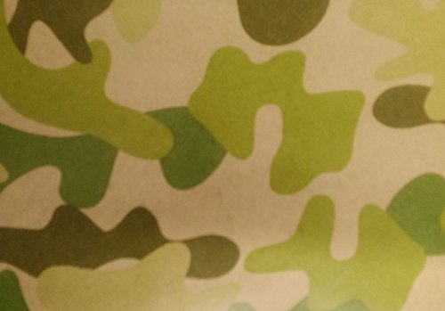 Green-Tan Camouflage Gift Wrap (2'×8') 1-Pack ()