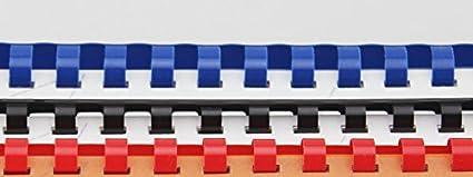 25 St/ück wei/ß DIN A4 Format, geeignet f/ür alle Bindeger/äte, 12 mm Genie 12381 Plastikbinder/ücken