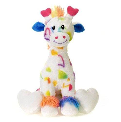 - Fiesta Toys V12206 Rainbow Sitting Valentine Giraffe Plush Animal Toys, 12