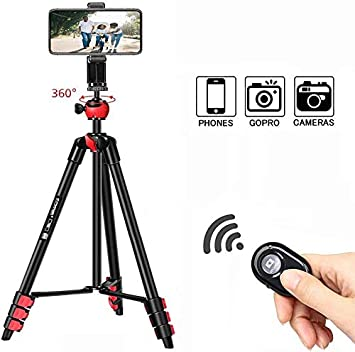 DSLR Cameras Premium Material GoPro Color : Blue XIAOMIN Pocket Mini Tripod Mount with 360 Degree Ball Head for Smartphones