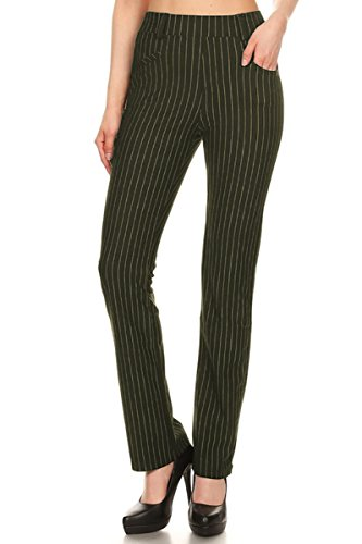 leggings-depot-womens-all-around-comfort-office-slimming-pants-xl-olive-stripes
