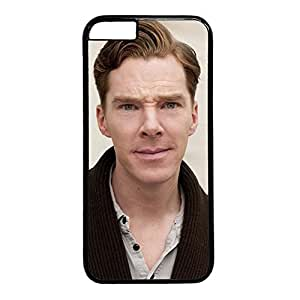 iCustomonline Benedict Cumberbatch Plastic Black Hard Back Shell Cover for iPhone 6( 4.7 inch)
