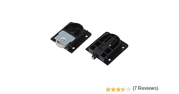 SODIAL(R) Rodillo de puerta deslizante Rueda de 25 mm diametro placa de plastico negro de armario: Amazon.es: Industria, empresas y ciencia