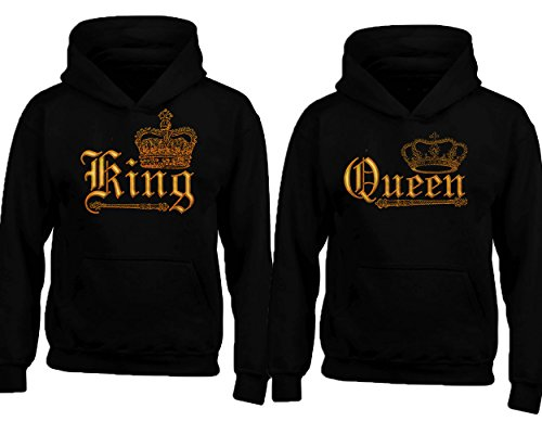 CRAZYDAISYWORLD King and Queen New Style Couple Matching Hoodies