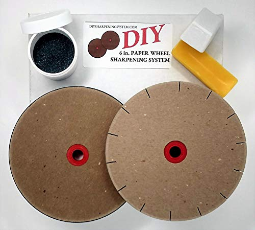 """Paper Wheels Sharpening System 6"""" Wheels for 5"""" Grinders Grit & Polishing Wheel (Stone Stone Sharpening Pro)"""