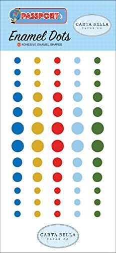 Dot Beaux (Carta Bella Paper Company CBPAS84028 Passport Enamel Dots, Red, Sky Blue, Yellow, Forest Green)
