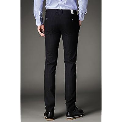 c85f0b6ccdba0 FLY HAWK Mens Plaid Dress Pants, Wrinkle-free Slim Fit Tapered ...