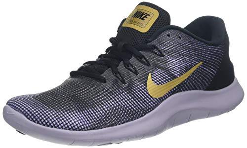 (Nike Women's Flex RN 2018 Running Shoe (9 M US, Black/Metallic Gold/Obsidian))