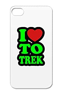 Miscellaneous I Love To Trek Animals Nature TPU Green For Iphone 4s Cover Case