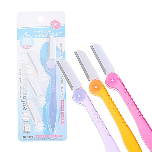 FYUE Convenient Ladies Portable Eyebrow Razors Precision Eyebrow Shaving for Trimming and Shaping Eyebrows