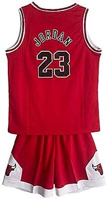 SALLARM Jordan 23 Conjunto de Jersey Bulls Uniformes de Baloncesto Ropa Deportiva para niños(Rojo,L): Amazon.es: Deportes y aire libre