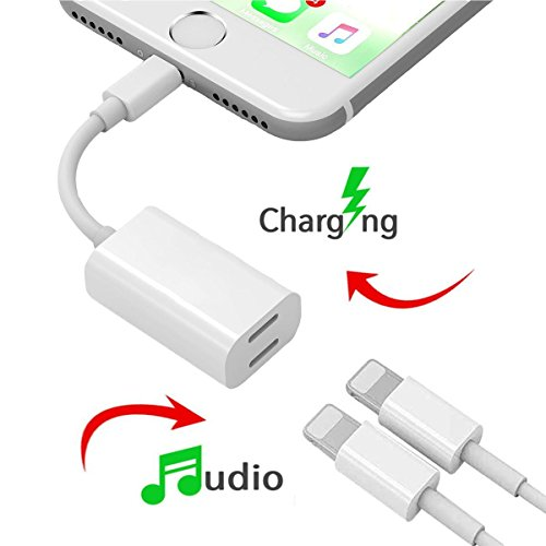 Dual Lightning Adapter Splitter for iPhone 7/7 Plus, Darrent