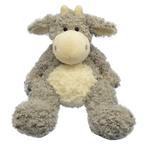 DORE Plush Cow Animal Stuffed Cow for Child,Gray