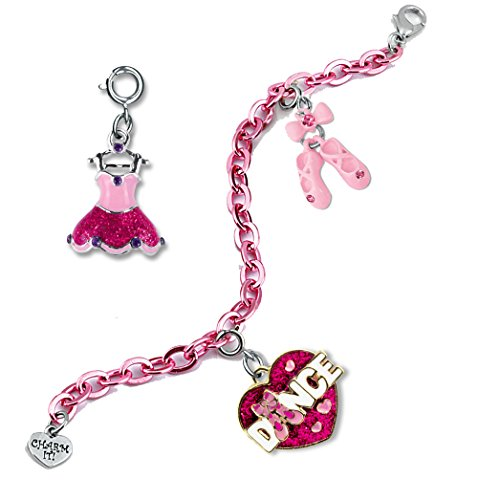 Ballerina Slipper Charm (CHARM IT! Prima Ballerina Dance Tutu and Ballet Slipper Pink Charm Bracelet Gift Pouch Set)