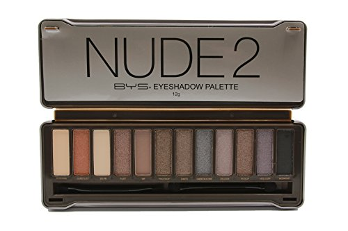 BYS 12 Color Eyeshadow Palette, Nude 2, 3 Ounce
