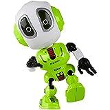 MANIINI Mini Robot Toy for Kids Boys Girls Gift Interactive Voice Changer Robot Gift for Kid, Die-cast Talking Robot(Green)
