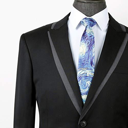 GuanBen Corbata de Hombre, Poliéster de algodón de sección ...