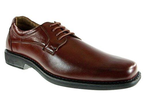 Mens 16059 Classique À Bout Rond Lacer Des Chaussures Habillées Oxford