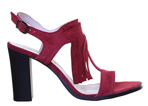Justin Reece 5200 Sandal - Sandalias de vestir de Ante para mujer Red