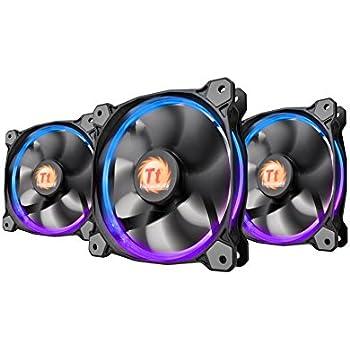 Thermaltake Riing 12 RGB LED 120mm Adjustable Color Case Radiator Fan - Triple Pack CL-F042-PL12SW-B