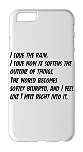 I love the rain. I love how it softens the outline of Iphone 6 plastic case