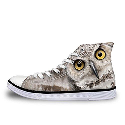 owl alta pattern Coloranimal mujer 5 Zapatilla 3d 4xpSw