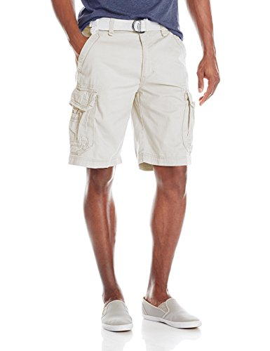 Unionbay Men's Survivor Belted Cargo Short, Stone, 42 from UNIONBAY