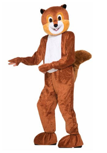[Forum Novelties Men's Scamper The Squirrel Plush Mascot Costume, Brown, One Size] (Animal Suits For Adults)