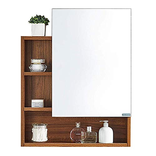 CHENNAO Mirrored Bathroom Cabinet, Wall Mount Storage Organizer, Medicine Cabinet with Single -