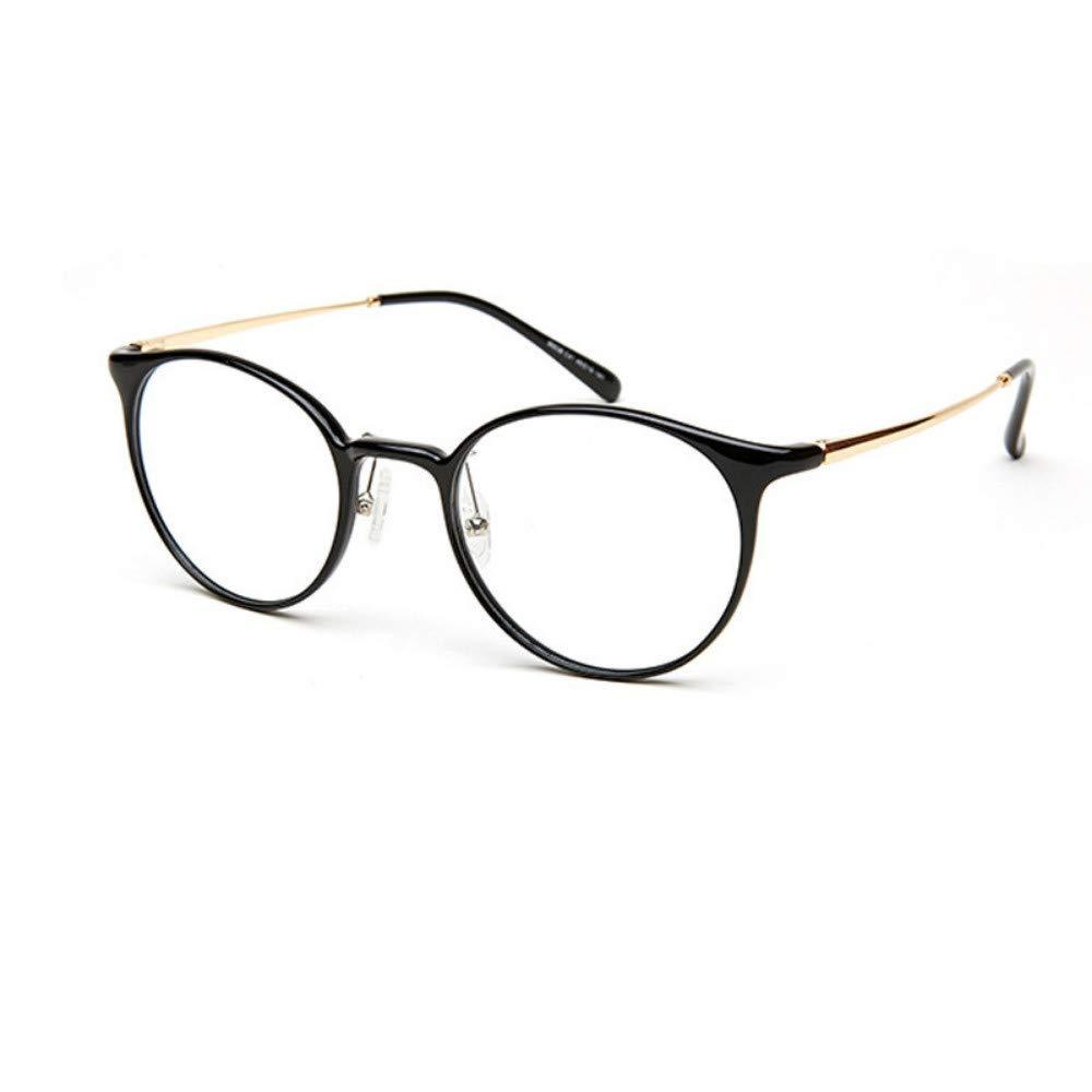 Tide girls anti-blue radiation radiant transparent ultra-light glasses frame black gold flat lens
