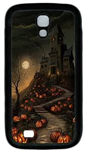 Halloween Haunted House Pumpkin Path Custom Designer Samsung Galaxy S4 Case and Cover - TPU - Black