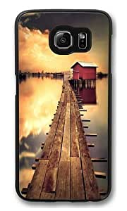 Chalet sunset Polycarbonate Hard Case Cover for Samsung S6/Samsung Galaxy S6 Black Kimberly Kurzendoerfer