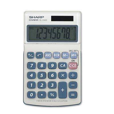 Sharp EL240SB Handheld Business Calculator, 8-Digit LCD EL-240SB