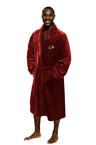 The Northwest Company Officially Licensed NHL Chicago Blackhawks Men's Silk Touch Lounge Robe, Large/X-Large