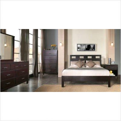 5 Piece Riva Queen Platform Bedroom Set in Espresso by Modus