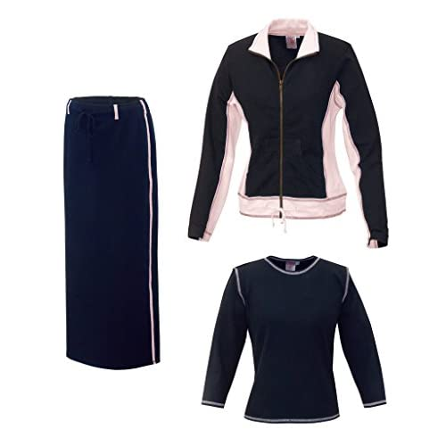 Baby'O Women's Three Piece Athletic Jacket Ankle Length Skirt Set supplier