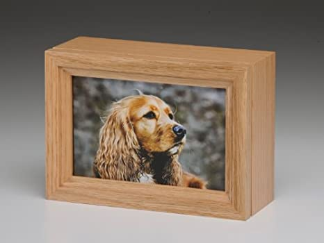 Amazoncom Pet Urn Peaceful Pet Oak Wood Photo Frame Pet Cremation