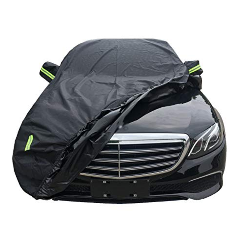Car Cover Compatible with Mercedes-Benz C-Class C180 C200 C260 C300 Waterproof Rain Dust UV Breathable Universal Indoor Outdoor Car Cover (Color : Black, Size : C260)