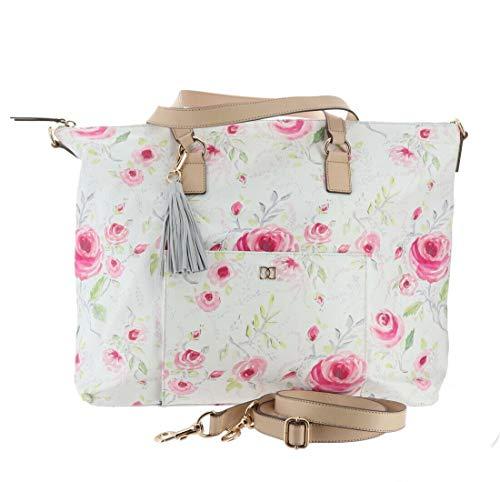 - DENA Weekender Travel Pouch Laptop Case Rose Floral New A293553