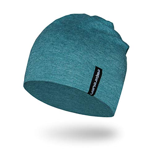- Empirelion Slouch Beanies Knit Hat Thin Running Lightweight Skull Cap for Men Women (Teal Green Melange)