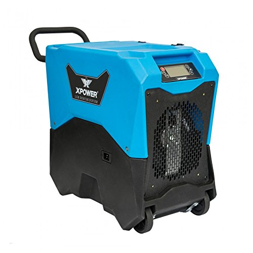 XPOWER XD-75LH Energy Star Certified Commercial LGR Dehumidifier for Basement, Crawlspace, Large Rooms, Work Sites- Water Leaks, Prevent Mold and Mildew- 74 Pints/ 9 Gallons a Day- Blue For Sale