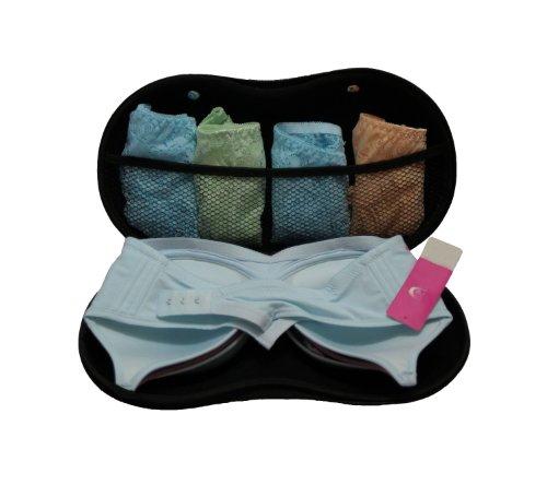 Portable Protect Bra Underwear Lingerie Case Travel Organizer-pink Dot
