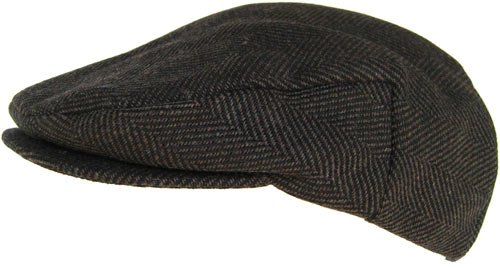 d40143609 Headchange Made in USA 100% Wool Ivy Scally Cap Brown Herringbone ...