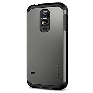 Spigen Tough Armor Galaxy S5 Case with Extreme Heavy Duty Protection and Air Cushion Technology for Samsung Galaxy S5 2014 - Gunmetal