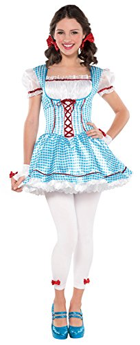 Cheap Dorothy Wizard Of Oz Costumes (Juniors Kansas Cutie Costume Size Medium (7-9))