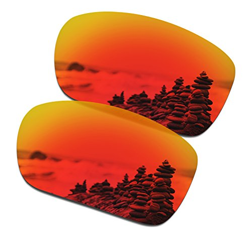 SmartVLT Men's Fire Red Replacement Lenses for Oakley TwoFace - Face Oakley Replacement Two Lenses