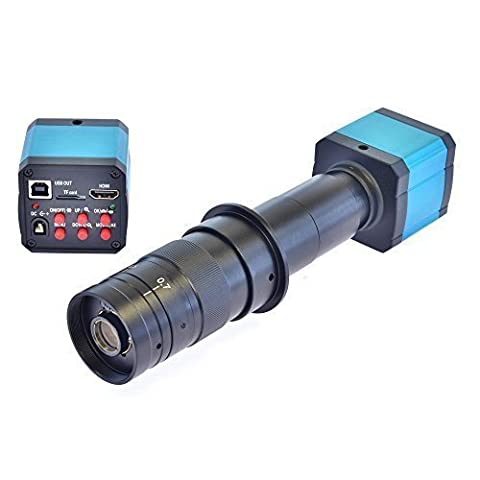 AIHOME 14MP HD TV HDMI USB Industry Digital C-mount Microscope Camera TF Card + 180x Zoom C-MOUNT (Tv Card With Hdmi)