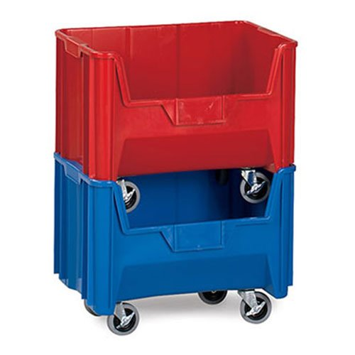 Quantum Giant Stacking Bins - 19-7/8 X15-1/4 X15-3/4'' - Blue - Blue - Lot of 3