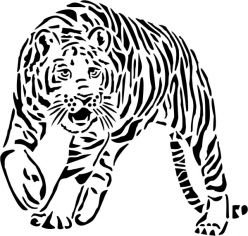 Amazon Com Tattoo Stencil Tiger 290 Tattooing Products Beauty
